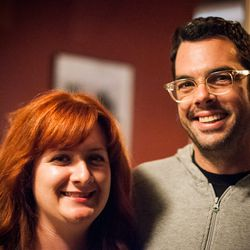 Austin's Stacy and Aaron Franklin, of Franklin Barbecue, at the Eater/LM afterparty.