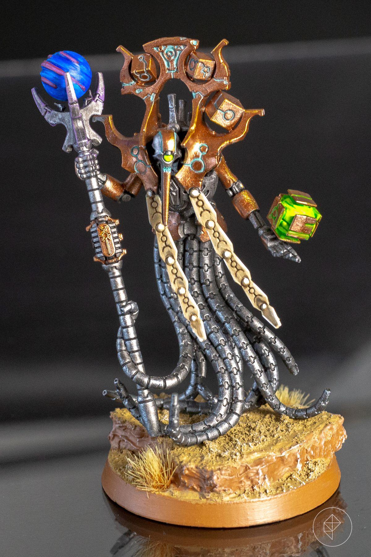 A Necron Chronomancer from Warhammer 40,000: Pariah Nexus
