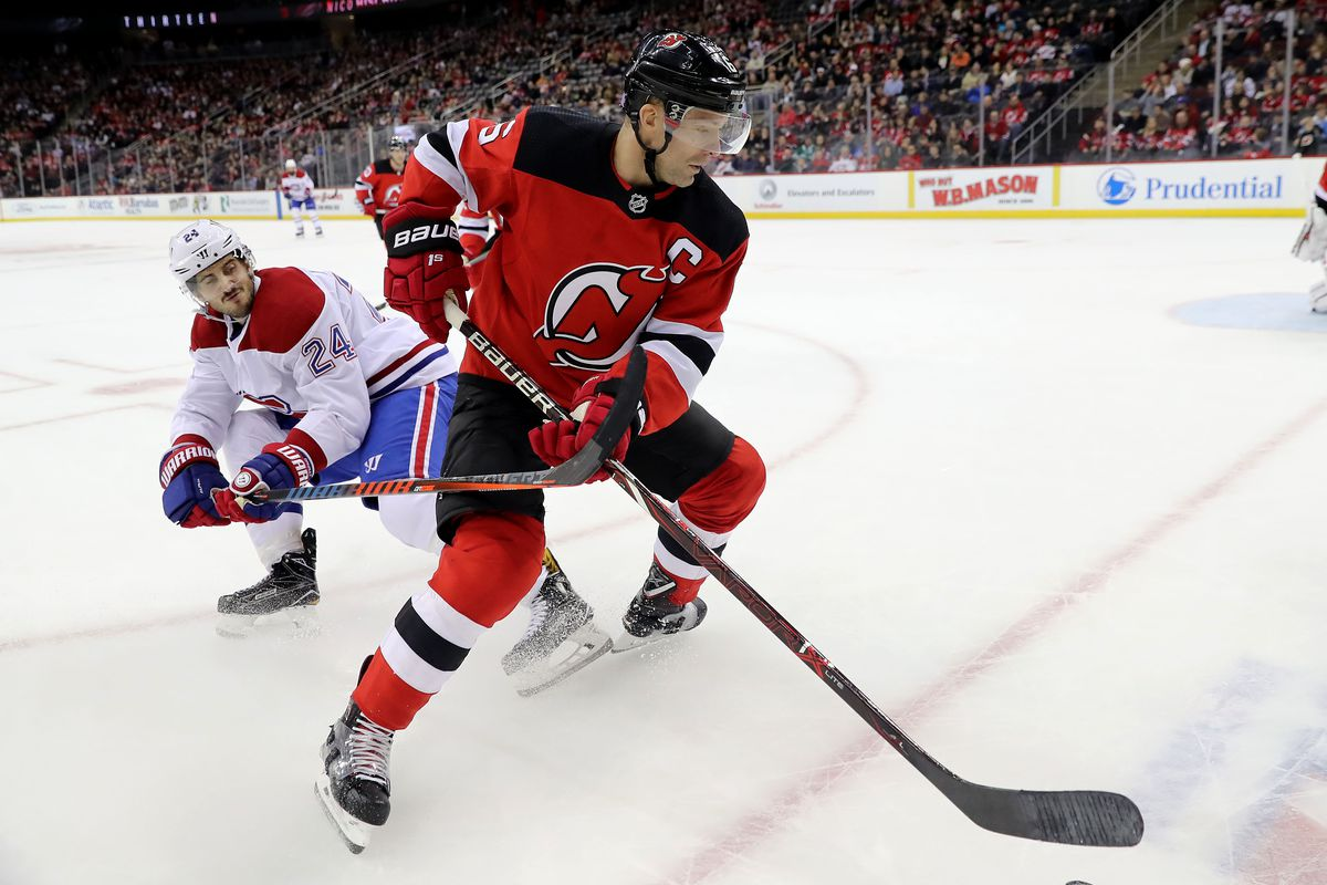 Andy Greene will look to lead the Devils past the Canadiens this afternoon.  Photo by Elsa Getty Images 715b6b25a