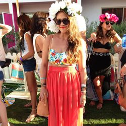 Of course, you can just stick to the Coachella uniform and wear a foolproof flower crown-and-maxi skirt combo. After all these years, this quintessential look still catches the eyes of street style photographers.