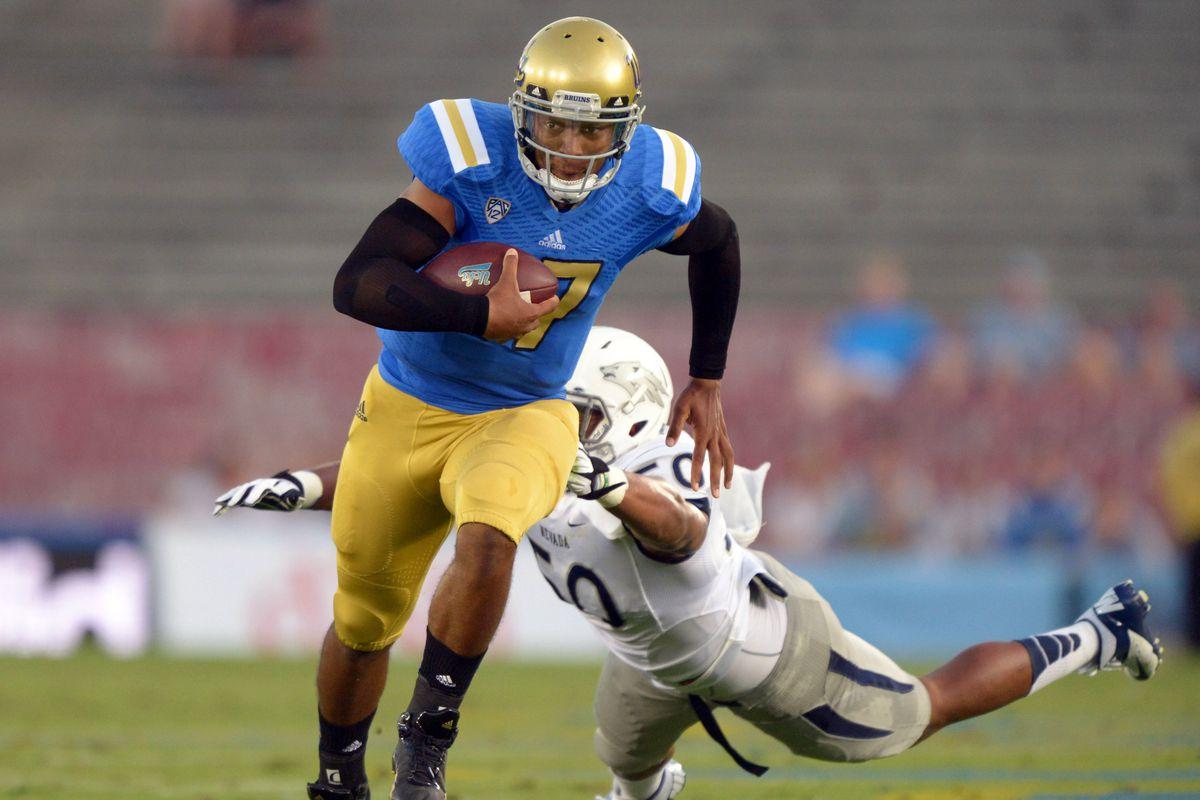 UCLA quarterback Brett Hundley turned heads in the Bruins' week one victory over Nevada.
