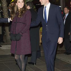 Wearing a Seraphine maternity coat in New York City on December 7th, 2014.