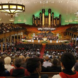 LDS Business College's 125th Commencement in the Tabernacle on Temple Square in downtown Salt Lake City Friday, April 13, 2012.
