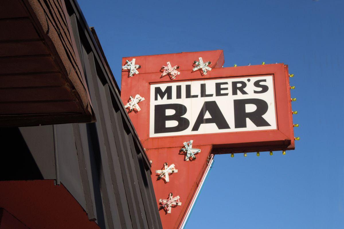 Miller's Bar sign