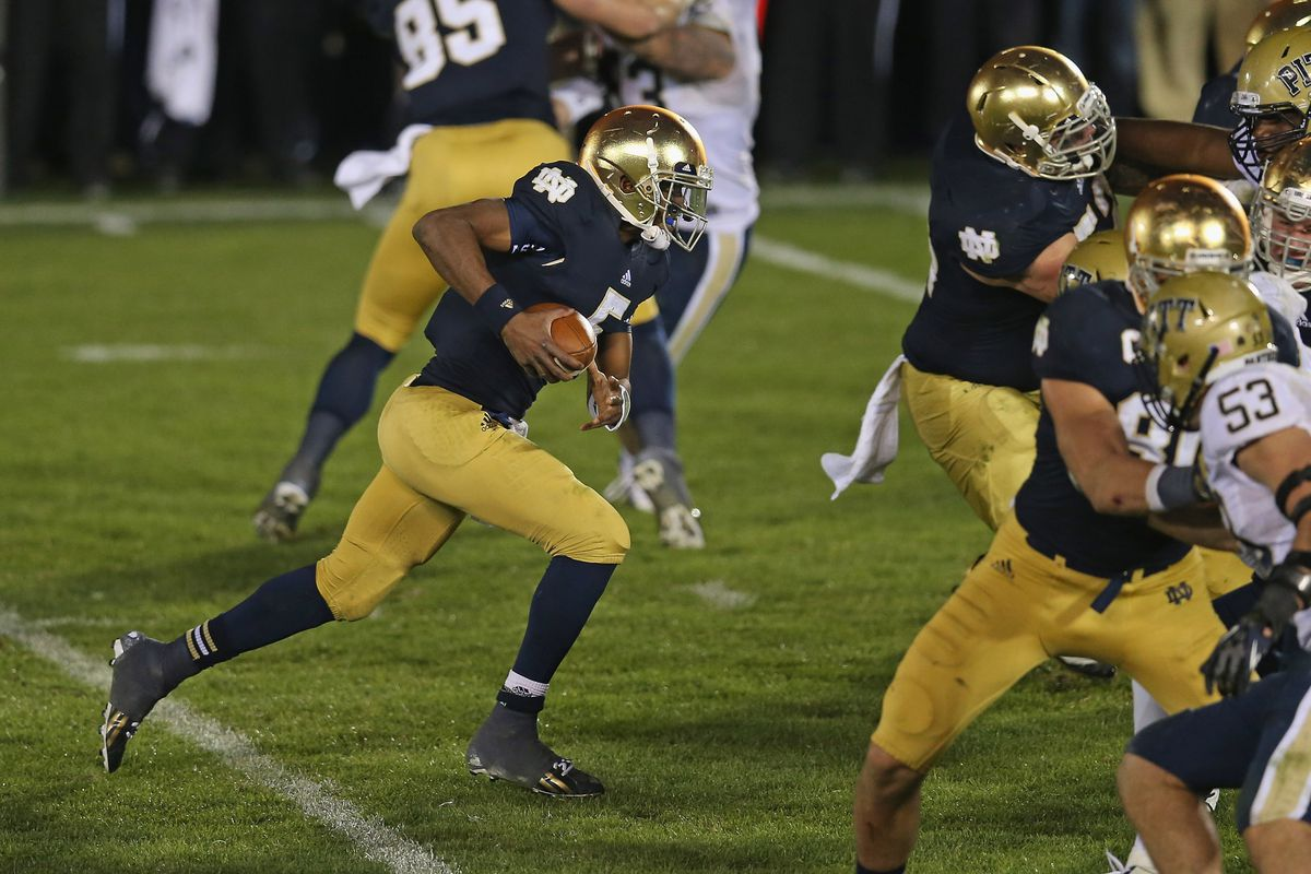 Everett Golson took the Irish on his shoulders against the Panthers