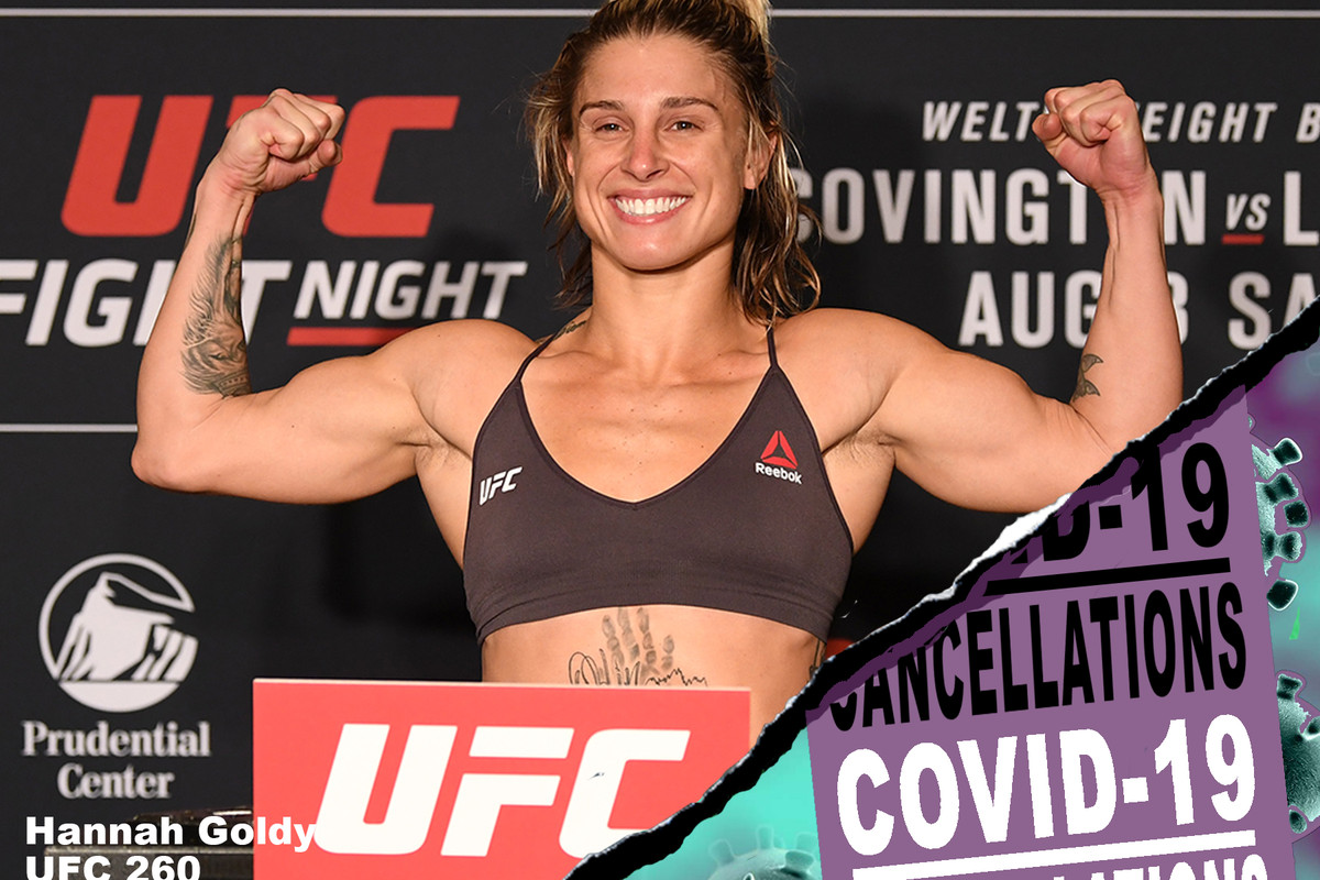 UFC 260, COVID, UFC and COVID, UFC and Pandemic, UFC COVID-19 Cancellations, Hannah Goldy vs Jessica Penne, Hannah Goldy,