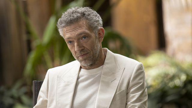 Westworld season 3: Vincent Cassel as white-suit-wearing Serac in episode 2