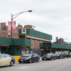 The Clark Street side of the Addison Clark project