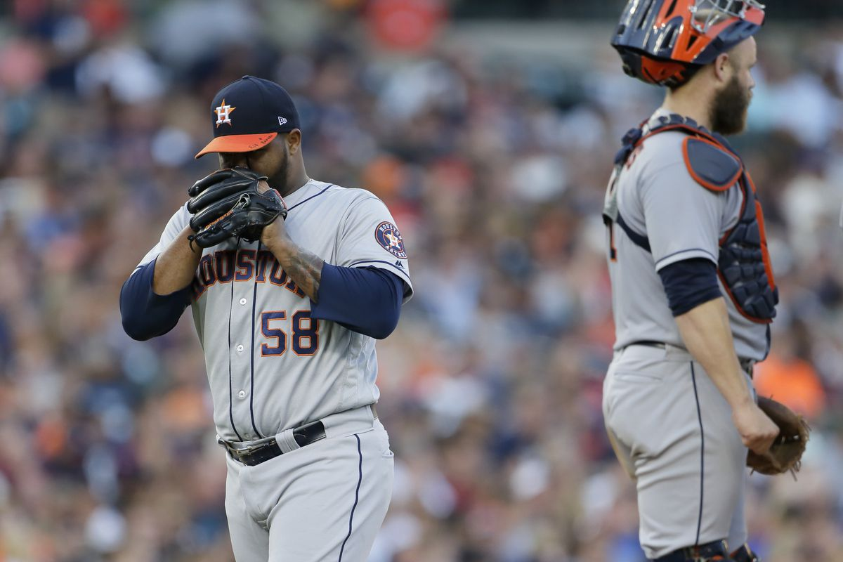 lowest price 15f1c 60a2e Tigers 5, Astros 3: Tigers snatch away victory late - The ...
