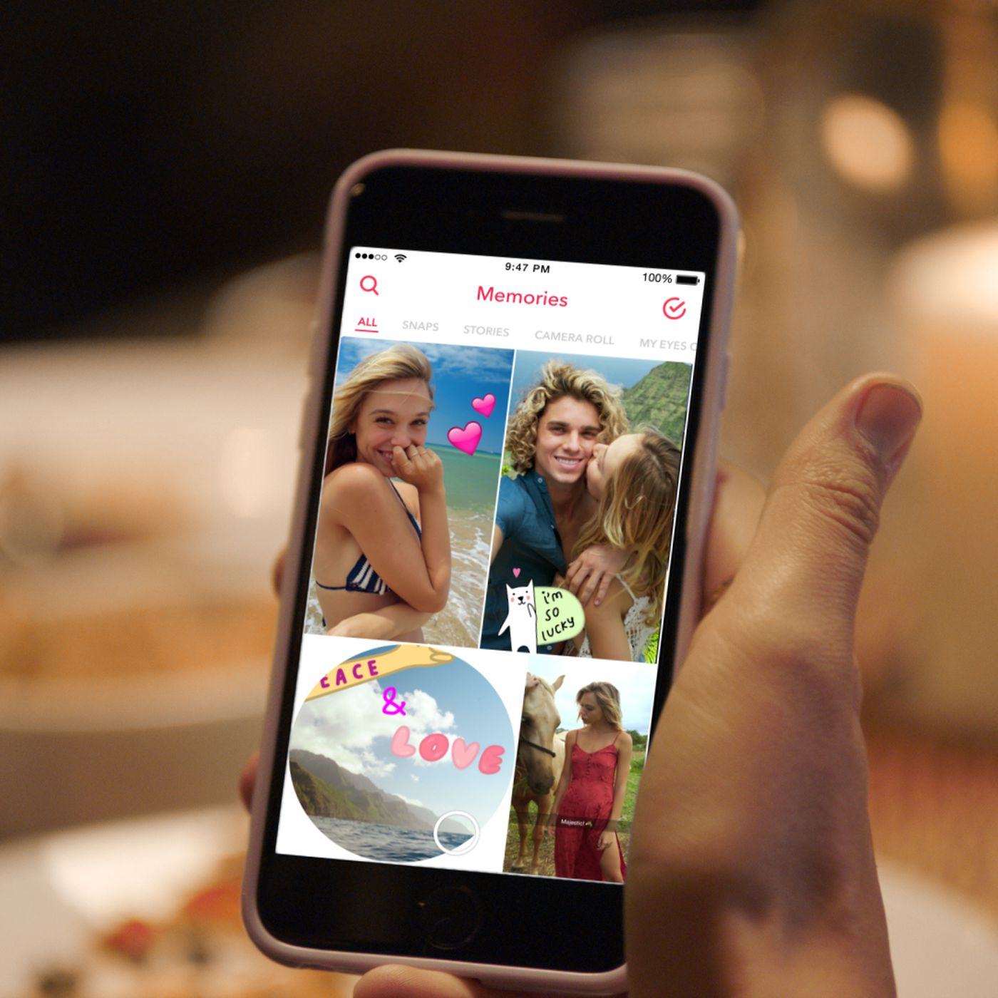 Snapchat introduces Memories: a searchable, shareable
