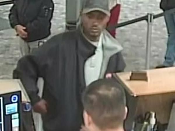 Surveillance image of the man suspected of robbing the U.S. Bank branch at 3525 W. 63rd St. / photo from the FBI