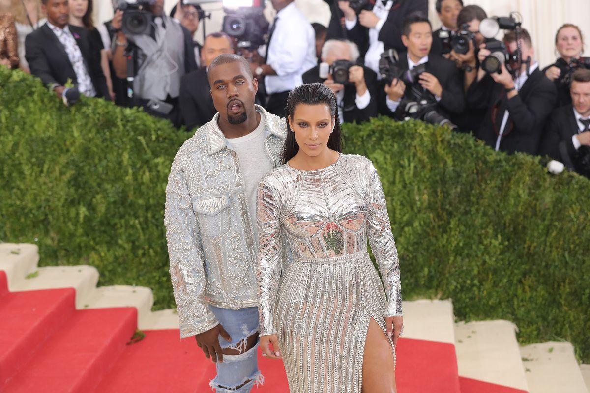 Kim Kardashian and Kanye West at Met Gala