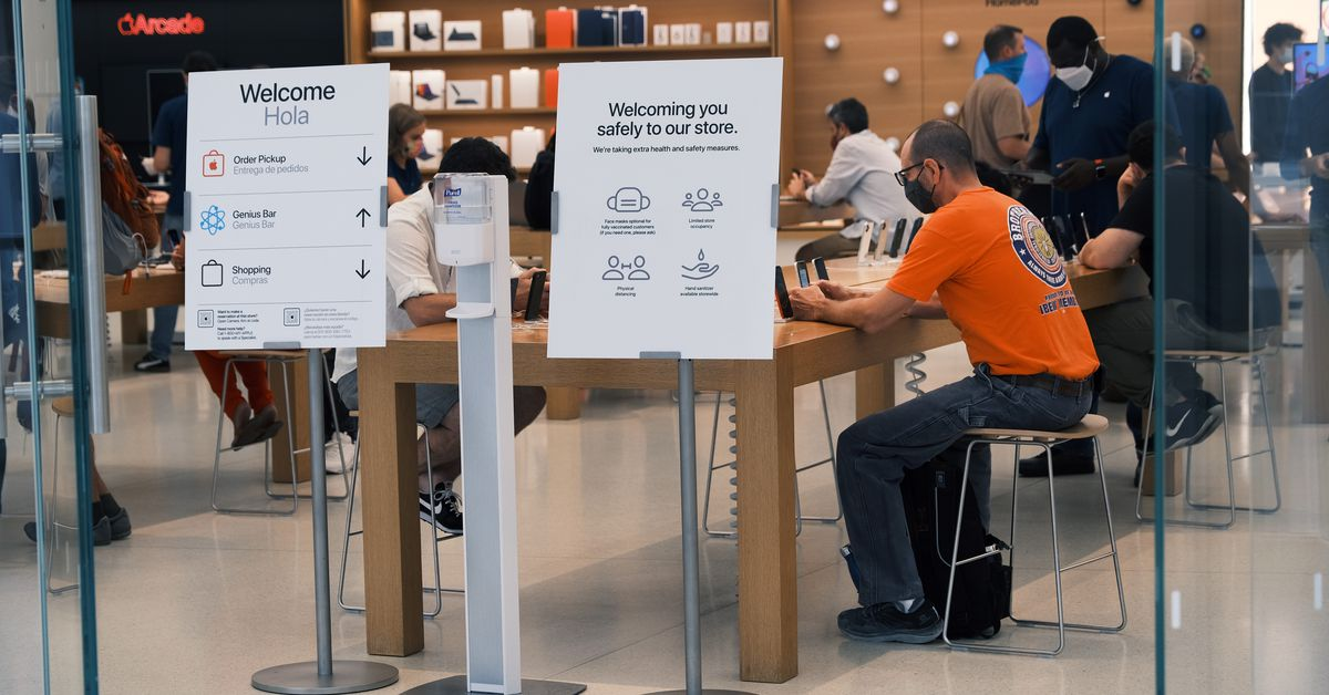 Apple's new COVID-19 policy requires vaccinations to skip 'frequent' testing