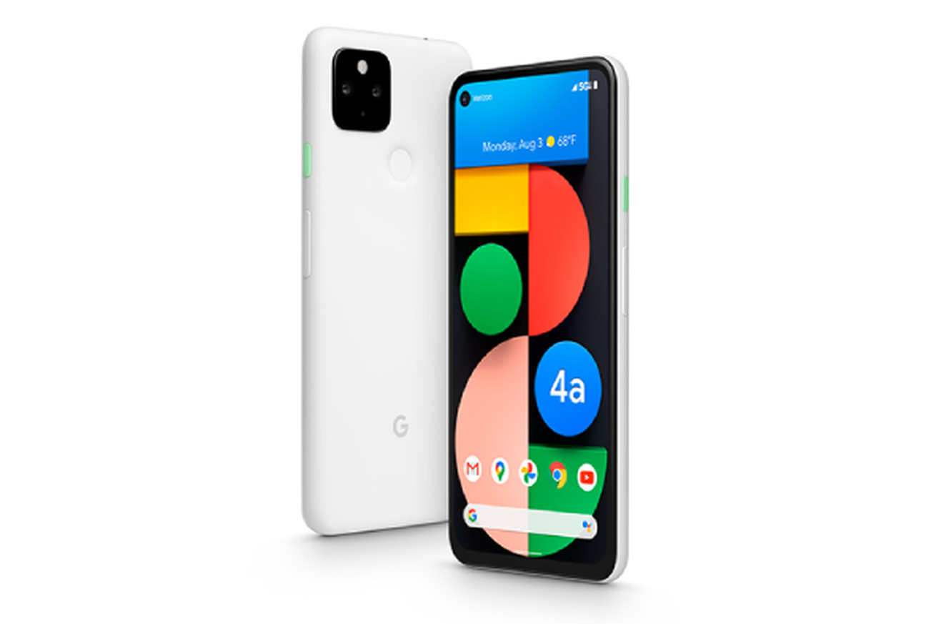 "Pixel 4A 5G UW (Verizon exclusive model in ""Clearly White"")"