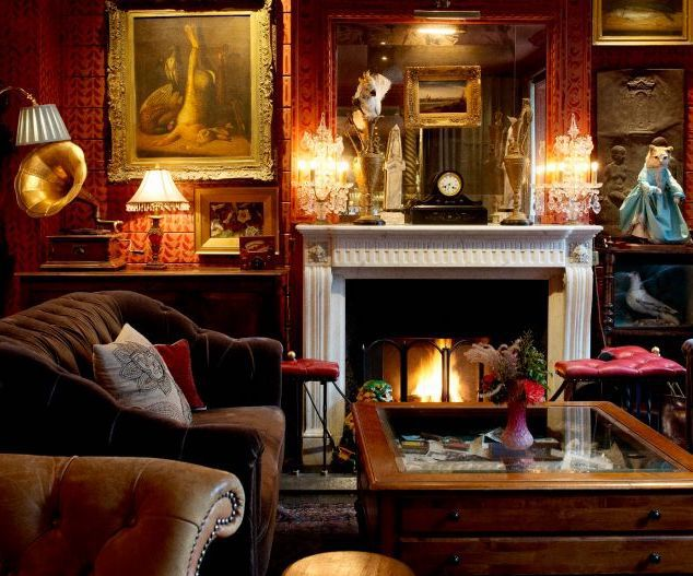 Fireplace at The Zetter Townhouse restaurant in Clerkenwell