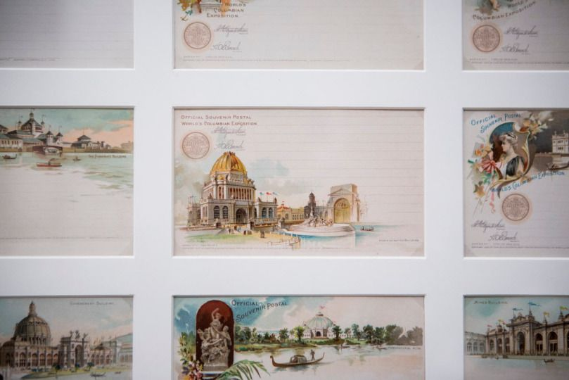 """Official postcards for the 1893 Columbian Exposition are on display at """"Pictures From an Exposition: Visualizing the 1893 World's Fair"""" at the Newberry Library. 