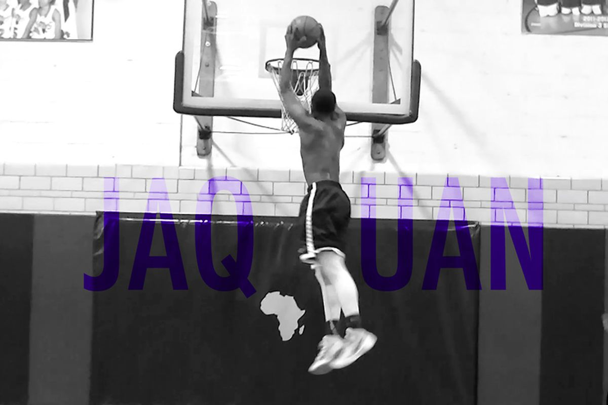 Jaquan Harrison rises up for a monster two-handed jam