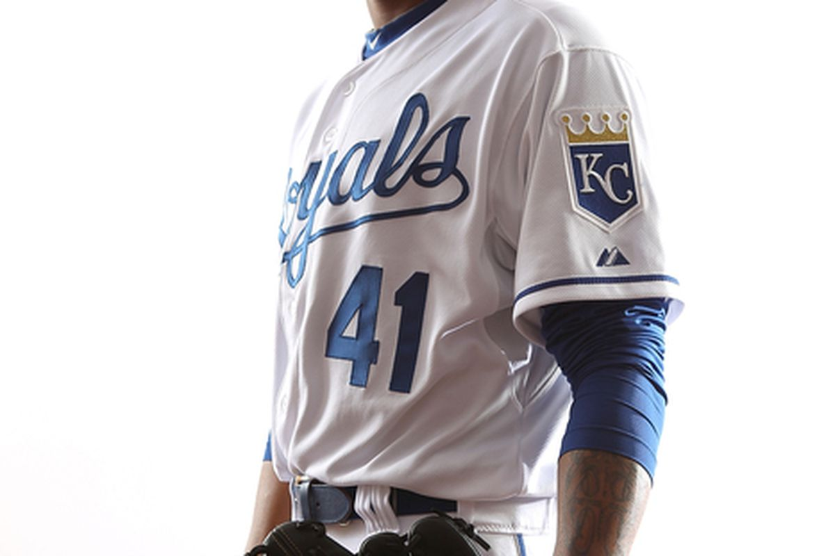 SURPRISE AZ - FEBRUARY 23:  Jeremy Jeffress #41 of the Kansas City Royals poses for a portrait during Spring Training Media Day on February 23 2011 at Surprise Stadium in Surprise Arizona..  (Photo by Jonathan Ferrey/Getty Images)