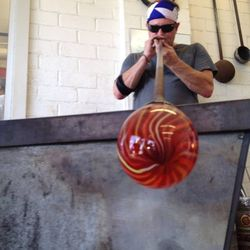 """Double-back to SiNaCa Studio, a glass-blowing school and gallery. You can see a cool demo on the risky-yet-mind-""""blowing"""" practice."""