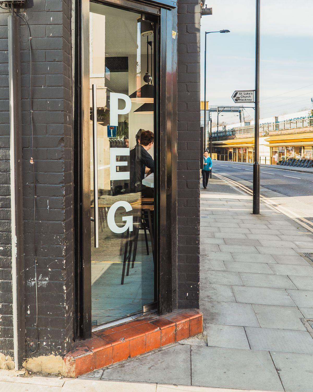 Peg restaurant and wine bar on Morning Lane, Clapton, east London