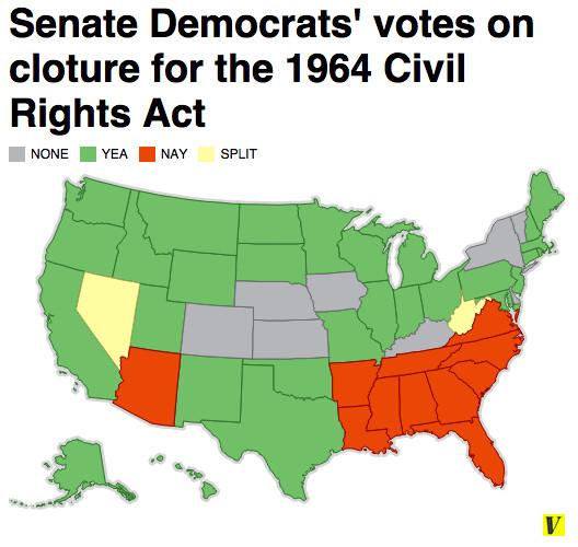 Senate civil rights vote 1964