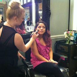 Makeup application station