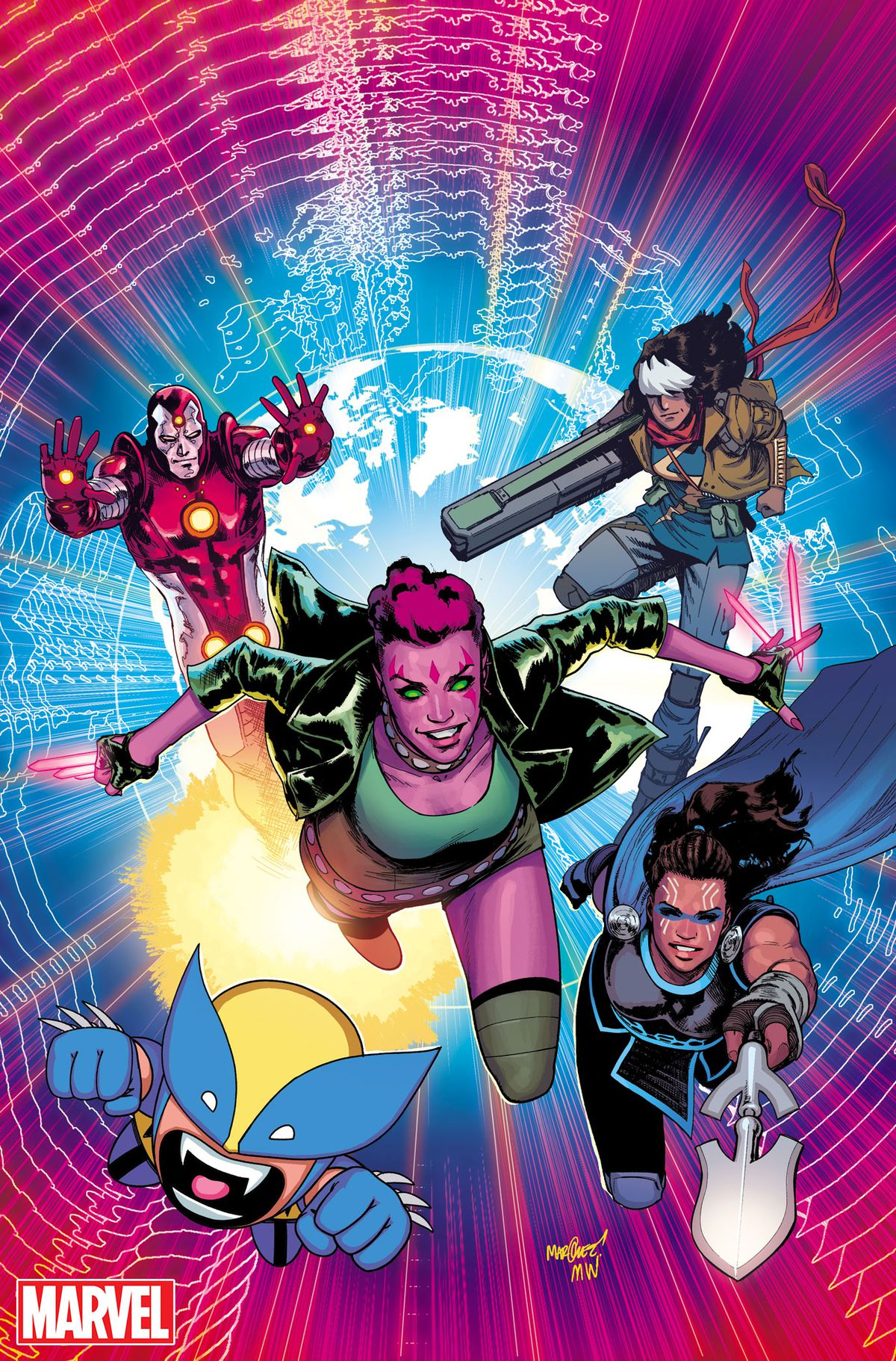 The Exiles, Iron Lad, Khan, Blink, Wolvie and Valkyrie, Marvel Comics 2018.