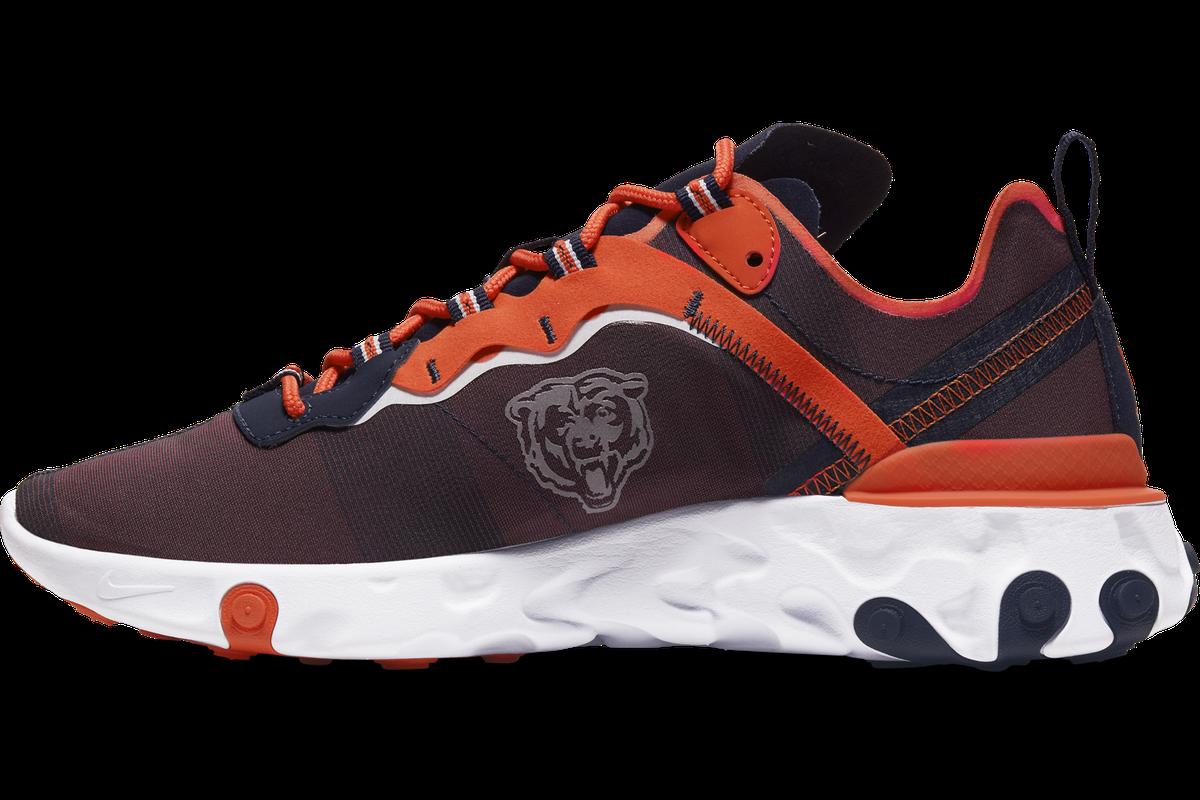 deseo Incorrecto León  Nike drops the new React Element 55 Chicago Bears shoe collection! - Windy  City Gridiron