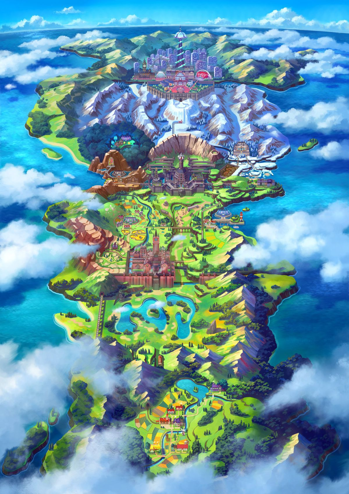 Is Pokémon Sword and Shield's Galar region based on the UK? - Polygon