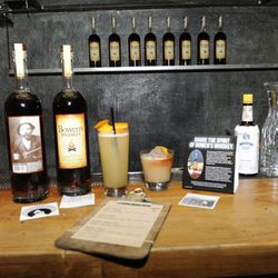 Bar set-up with Bowen's Whiskey drinks