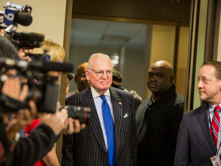14th Ward Alderman Edward M. Burke on the first day of the filing period for Municipal Elections, Monday, November 19th, 2018. | James Foster/For the Sun-Times