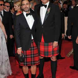 Marc Jacobs and Robert Duffy looking properly Scottish