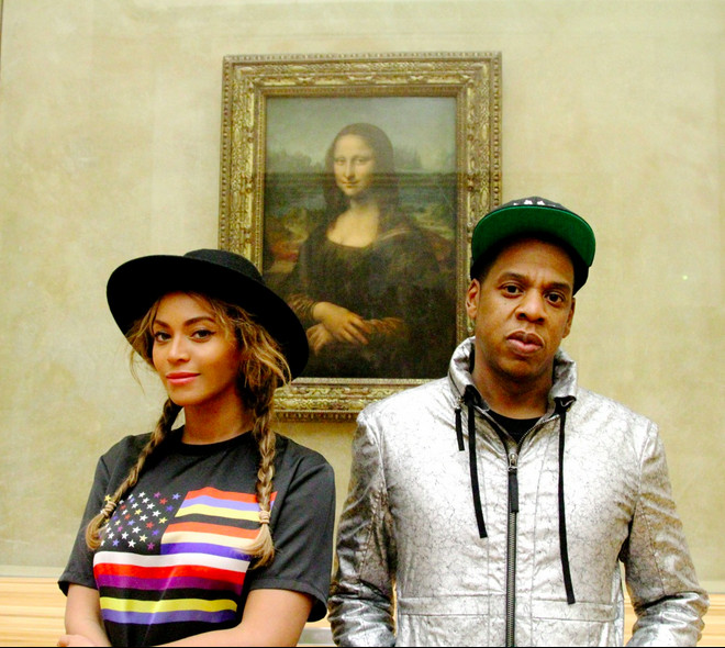bey and jay with Mona