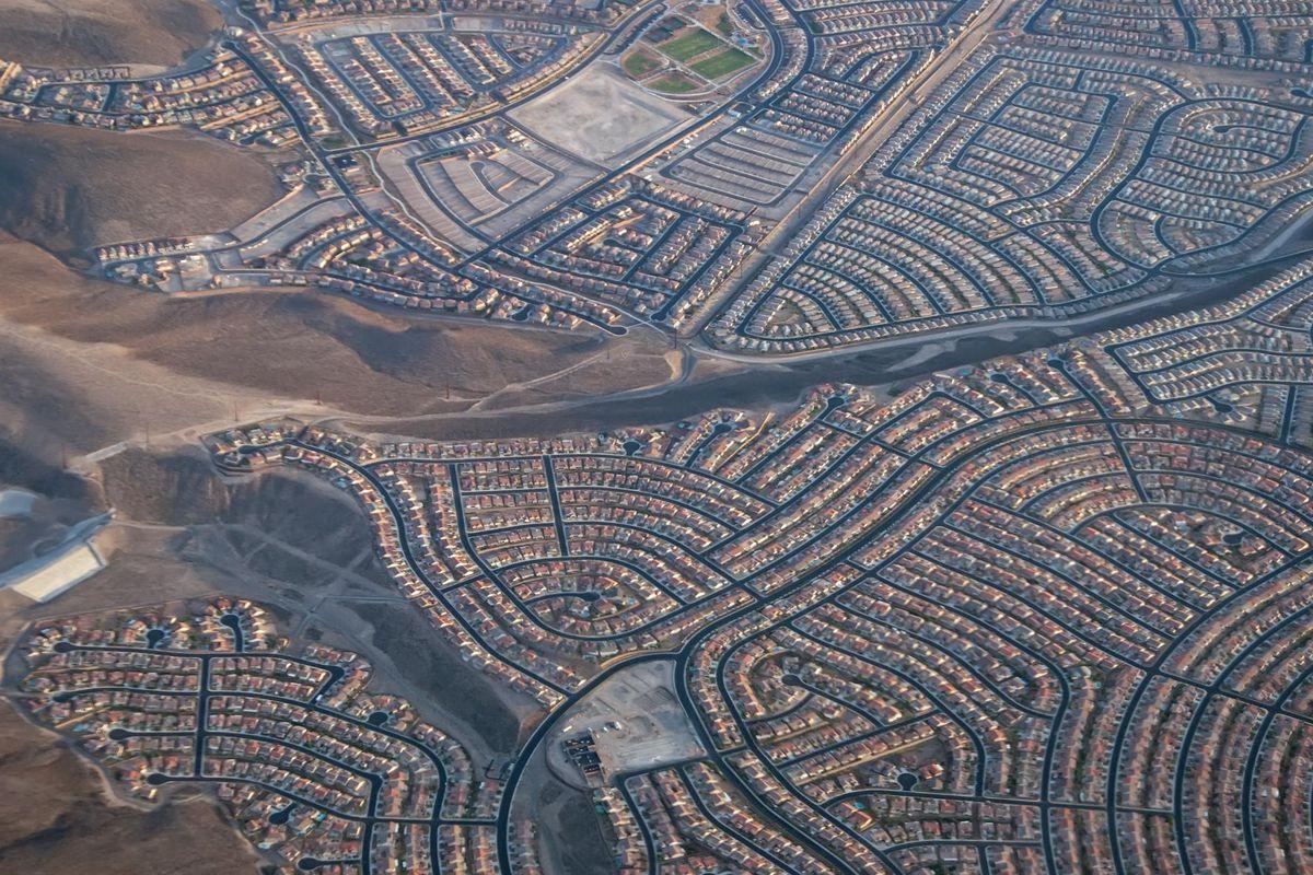 Suburban sprawl in Las Vegas.