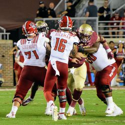 SO DT Cory Durden busting through the oline and not drawing a flag because, you know. Go ACC.
