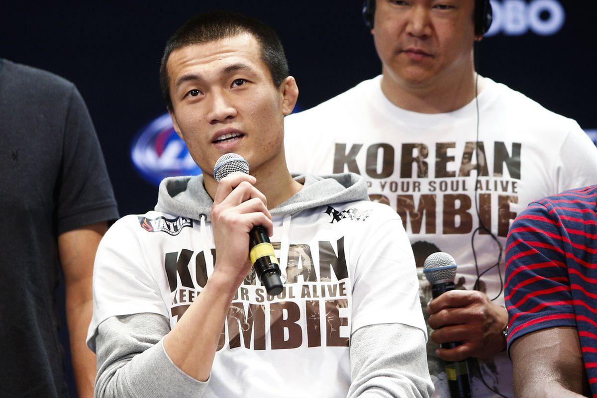the korean zombie' chan sung jung announces ufc return, challenges