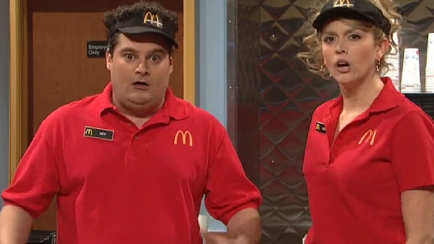 Watch Saturday Night Live S Mcdonald S Angry Firing Skit Eater