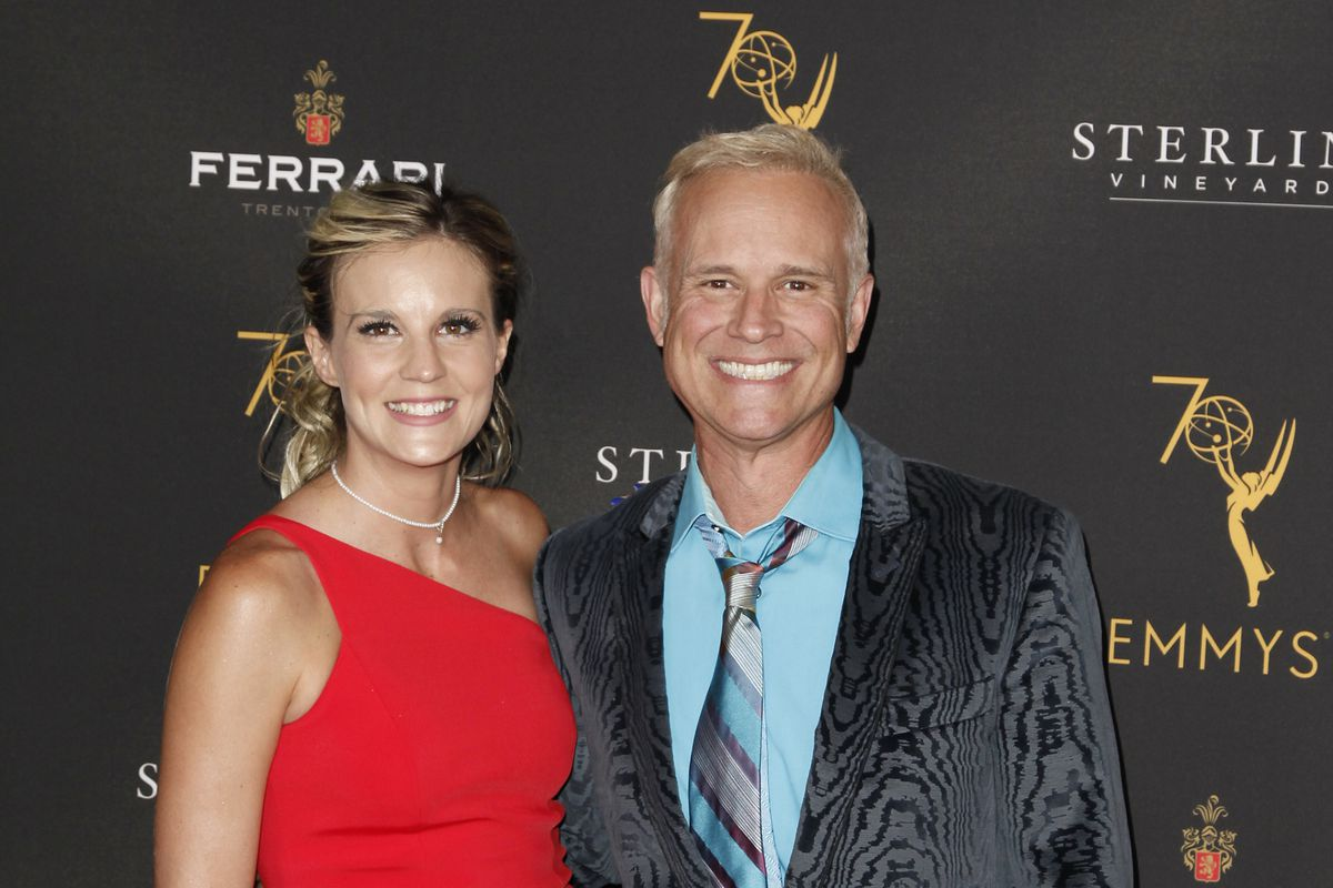George Gray and his future wife Brittney attend the Television Academy's Daytime Programming Peer Group Reception in 2018.