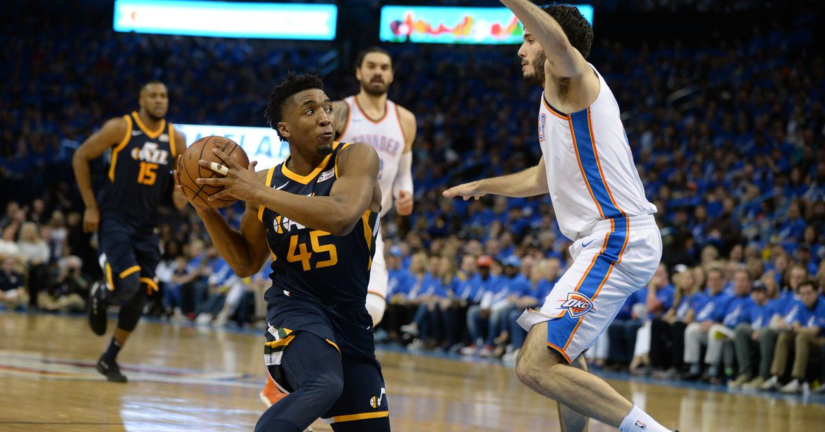 Donovan Mitchell's 55 points in his first 2 playoff games most ever by guard