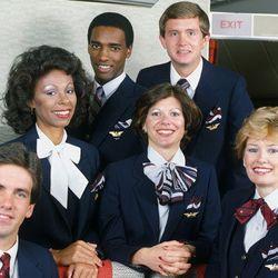 "Delta's look from 1983–2001. Photo via <a href-""http://www.deltamuseum.org/explore/history/delta-brand/uniforms/propeller-era-uniforms-1940-1959"">DeltaMuseum.org.</a>"