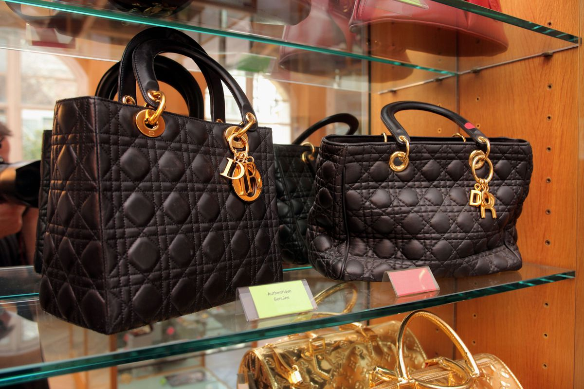 Real (left) and fake bags at the Paris Counterfeit Museum. Photo  Yves  Forestier Getty Images 3007afbd2c