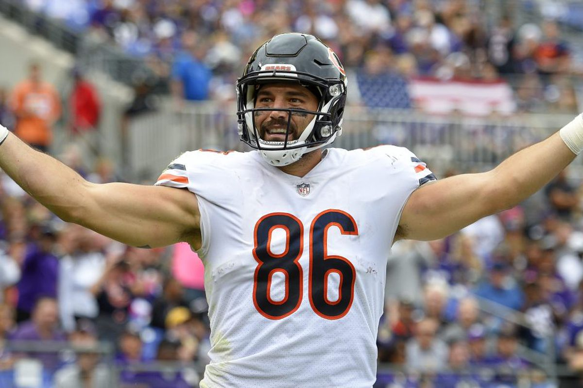 quality design 8a4bc 2a45b Still in pain after grisly 2017 knee injury, Bears TE Zach ...