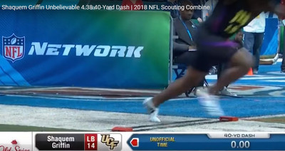 Shaquem Griffin's 40 time at the combine may have been inaccurate