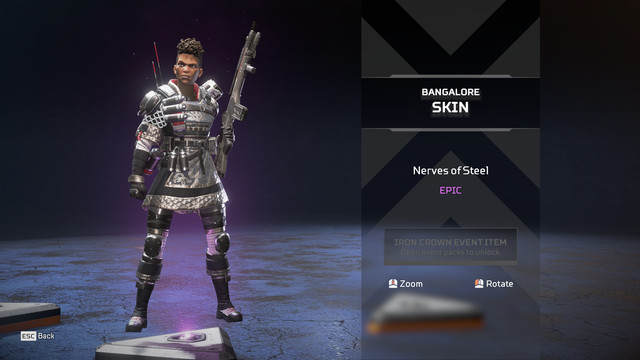 The Nerves of Steel skin in Apex Legends' Iron Crown event