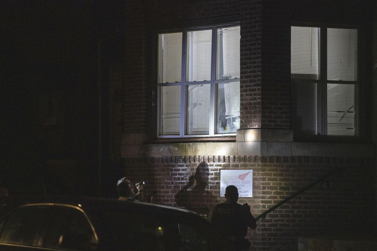 Chicago police investigate after a 4-year-old boy was shot in the head when bullets tore through the window of a home in the 6500 block of South Ellis Avenue late Friday in Woodlawn.