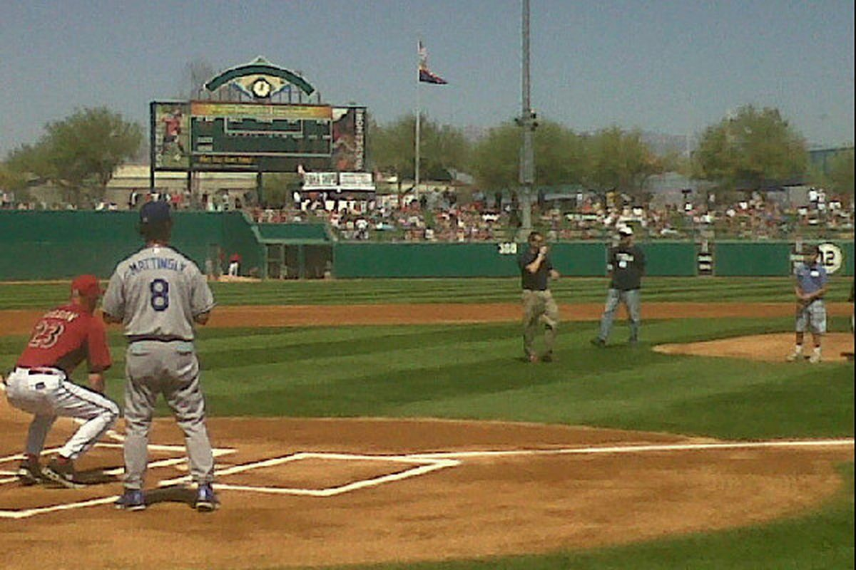 """Today's ceremonial first pitch at Tucson, by Dallas Green, Jr. (<a href=""""http://plixi.com/p/86815263"""" target=""""new"""">Jon SooHoo 