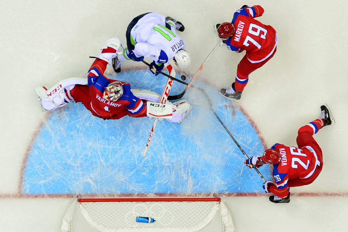 Voynov and the Russians got the better of Kopitar and the Slovenians.