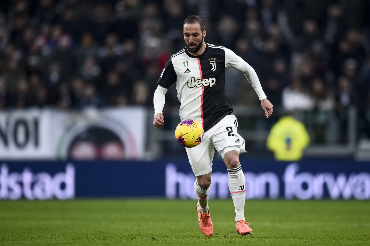 Gonzalo Higuain of Juventus FC in action during the Serie A...