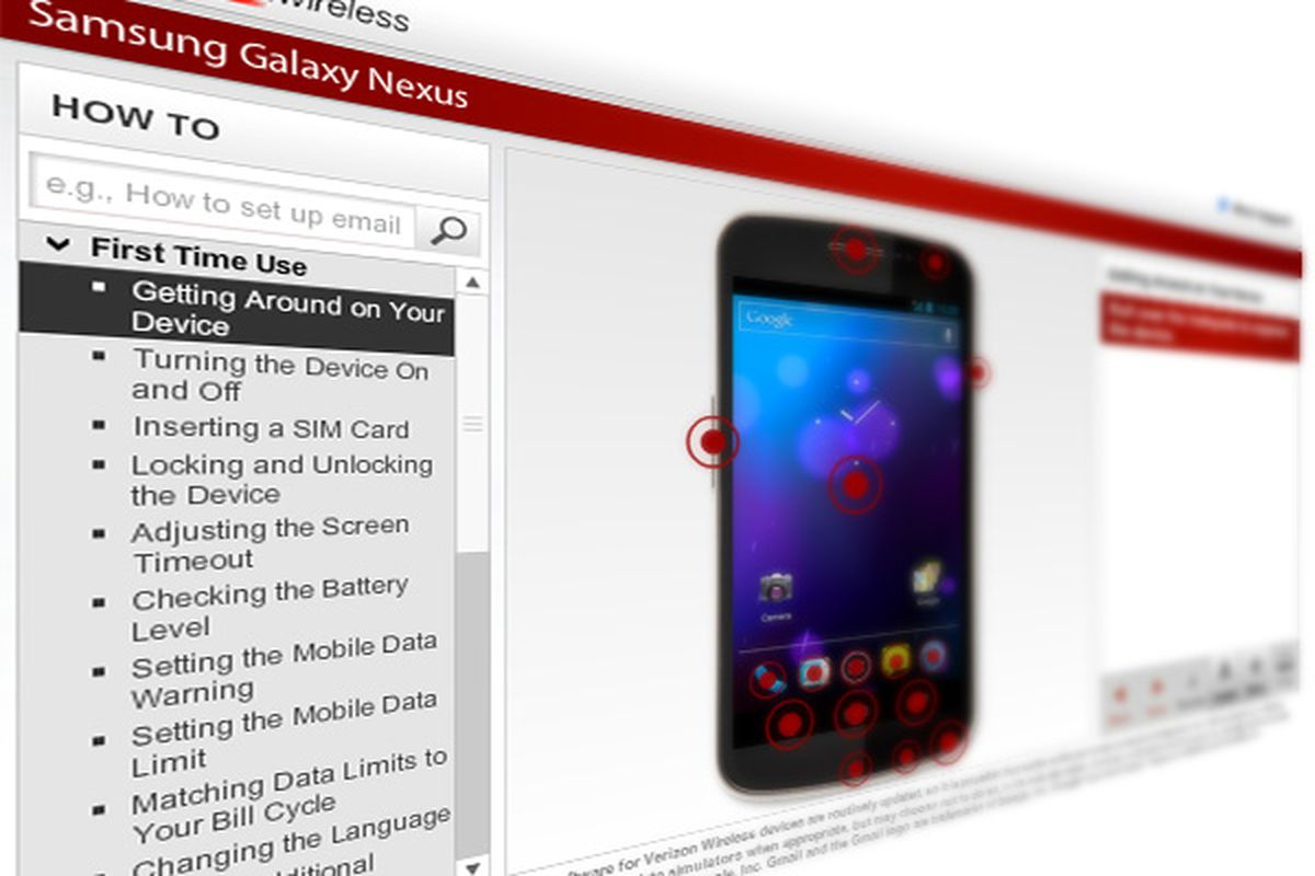 Lg gizmogadget verizon manual guide/consumer and product.