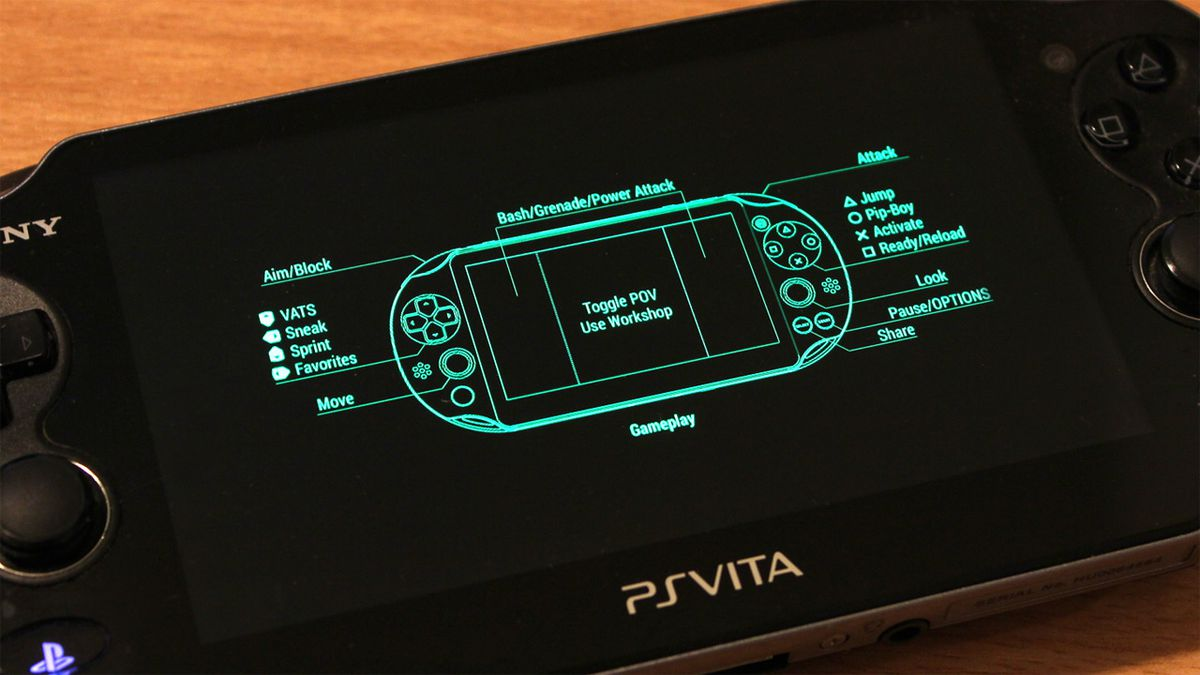 Fallout 4 Vita Remote Play controls